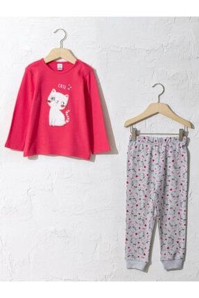 LC Waikiki Kız Çocuk Narçiçeği H4U Pijama Takımı