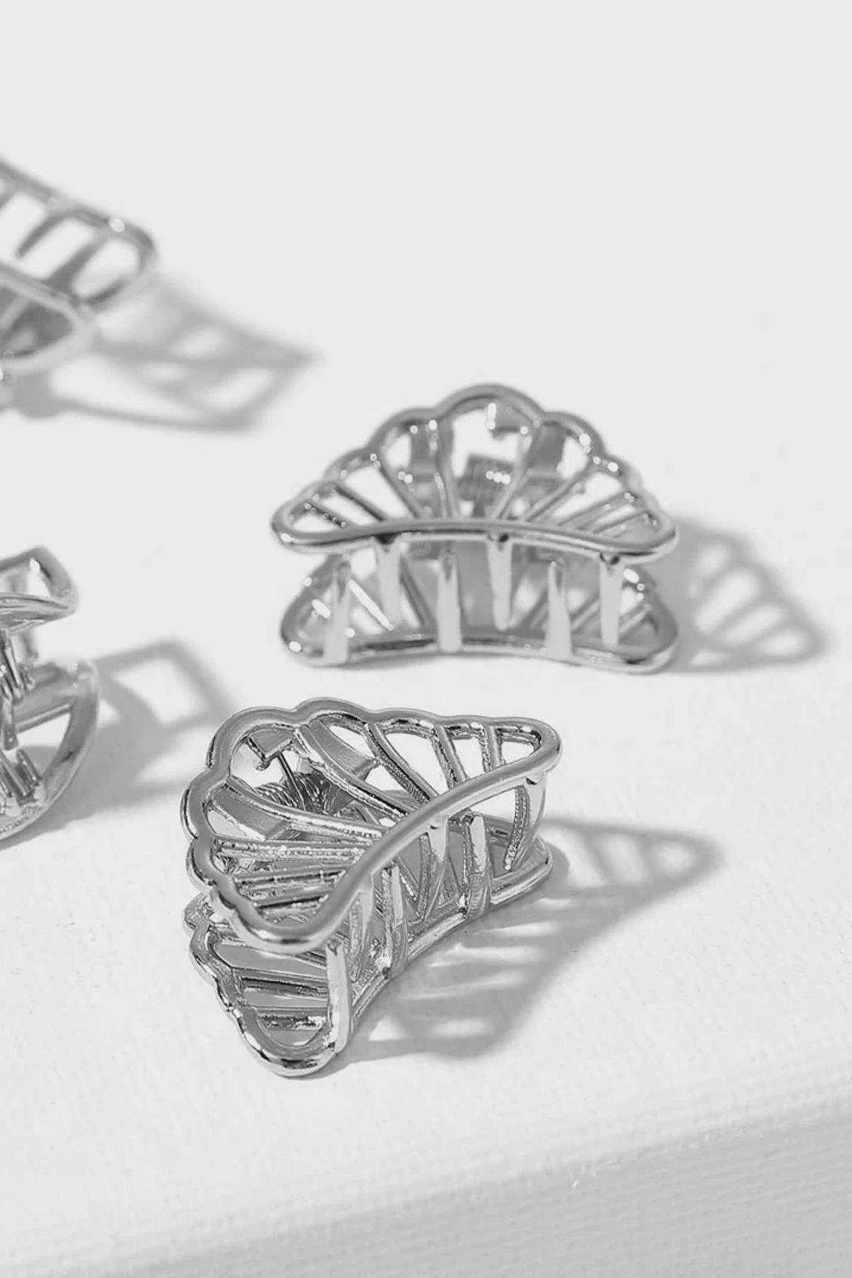 New Obsessions Kadın Gümüş Minimiti Mandal Toka 2'li 1