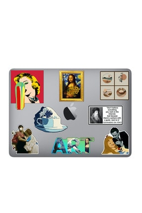 Katze Art Sanat Temalı Laptop Notebook Tablet Sticker Seti 8 Adet Art-03