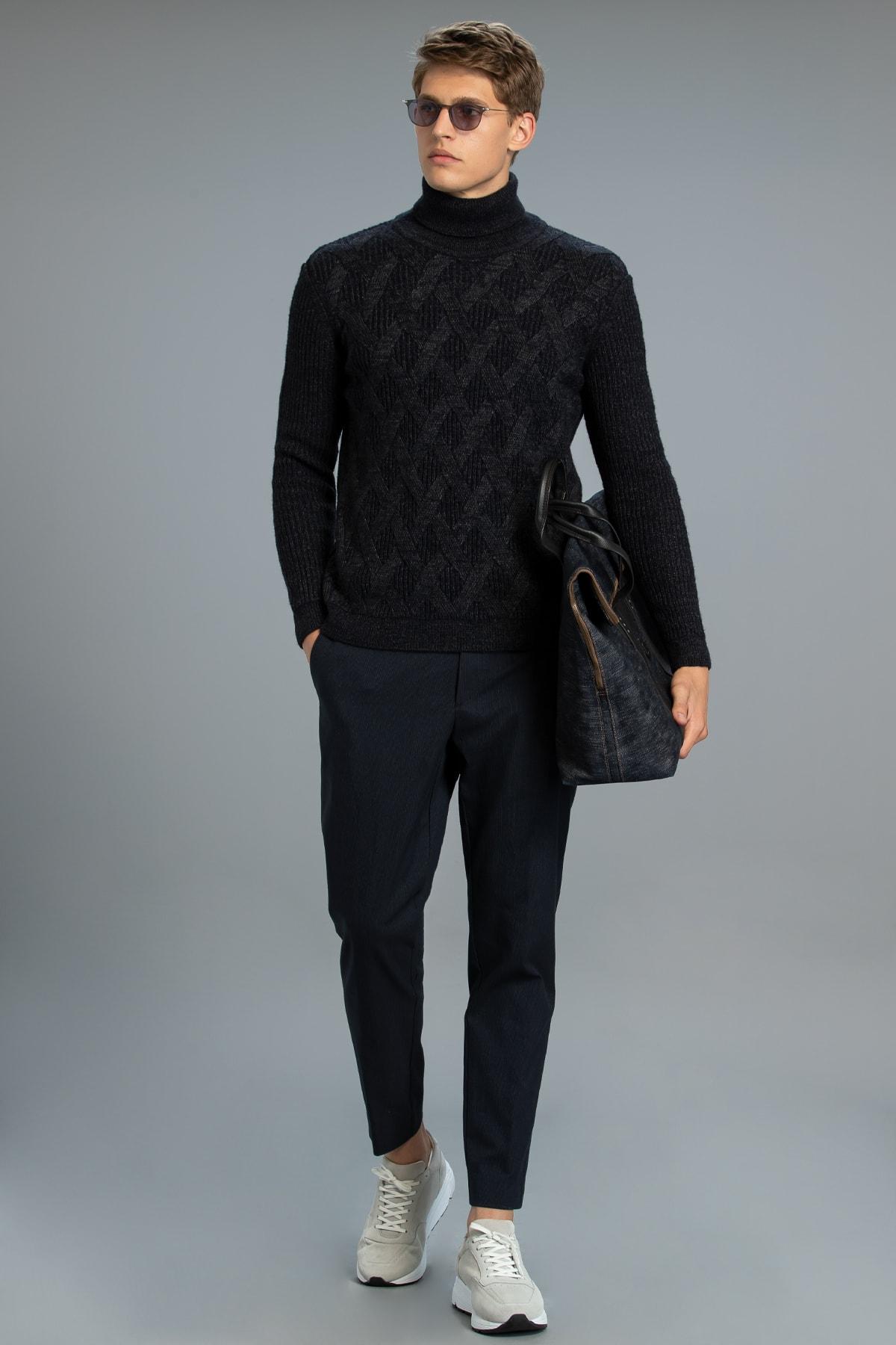 Lufian Tacco Smart Chino Pantolon Slim Fit Lacivert