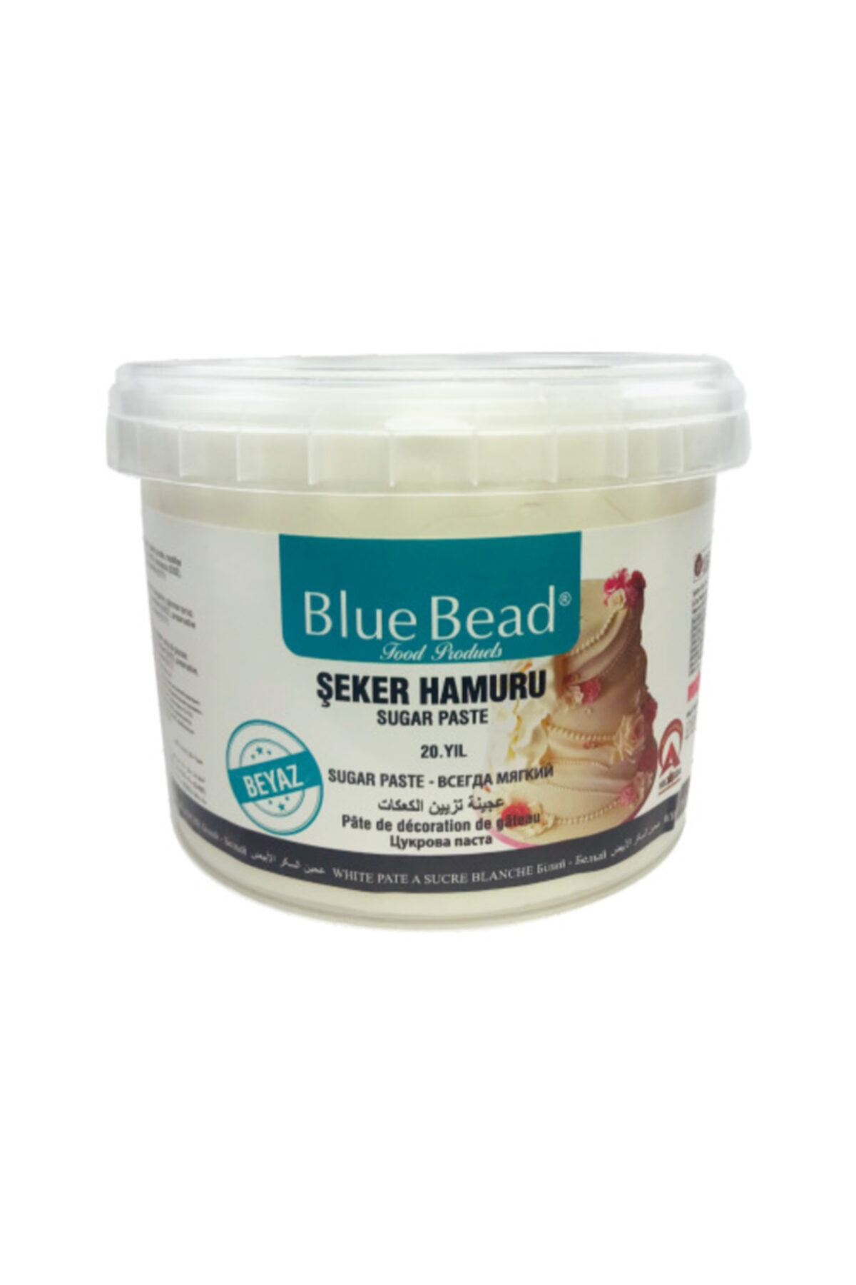 Blue Bead Beyaz Şeker Hamuru 1 Kg 1