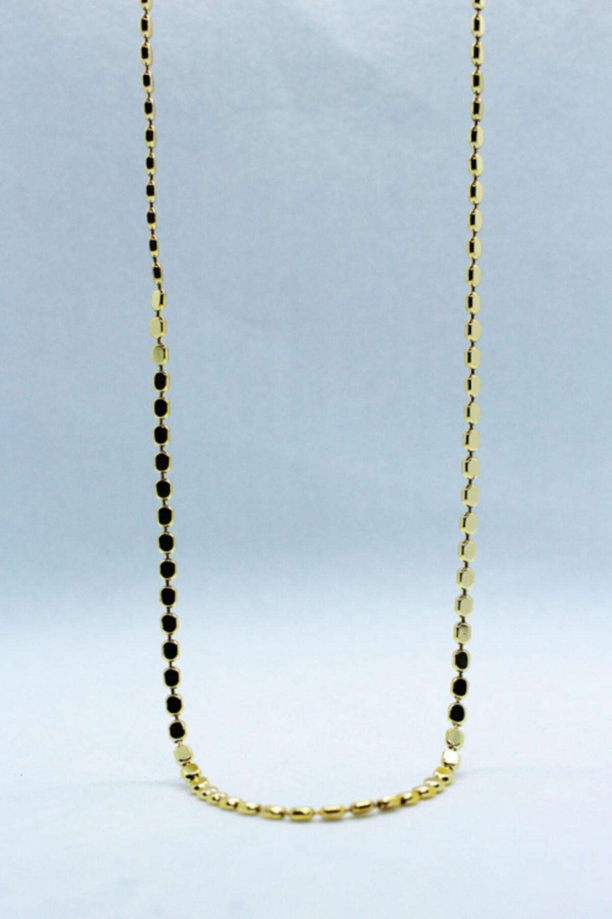 STRAWBERRY Kadın Altın Uzun Pul Arpa Kolye 1