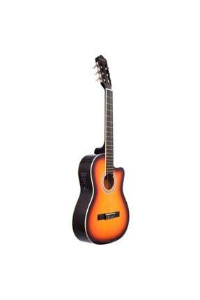 Rodriguez Gitar Elektro Klasik Kesik Kasa Eq Günbatımı Rcce650sb