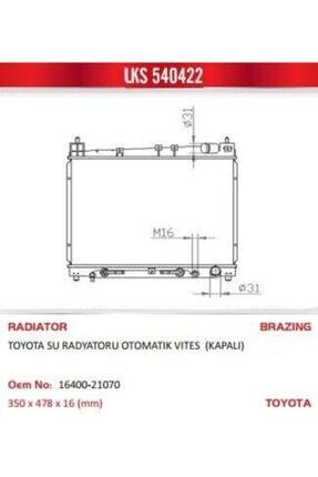 LKS Motor Radyatoru Otomatık Vıtes Kapalı Yarıs 99-02 540422