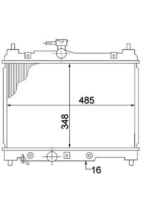 Oris Motor Radyatoru 350x488x16 Yarıs 1.0ı 99- Otomatık Orıs Bto126