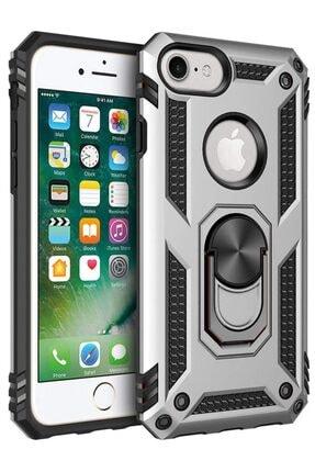 Apple Iphone 7 Kılıf Yüzüklü Standlı Tank Zırh Silikon