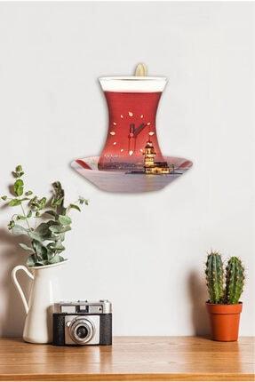 Sokaktaki Hediyem Kız Kuleli Çay Bardak Sallanır Sarkaçlı Mutfak Duvar Saati