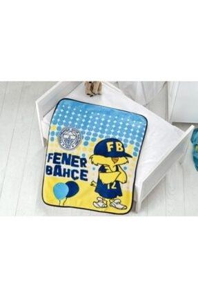 Merinos Lisanslı Fenerbahçe Bebek Battaniyesi Fenerbahçe Bebek Balon 100 x 120 cm