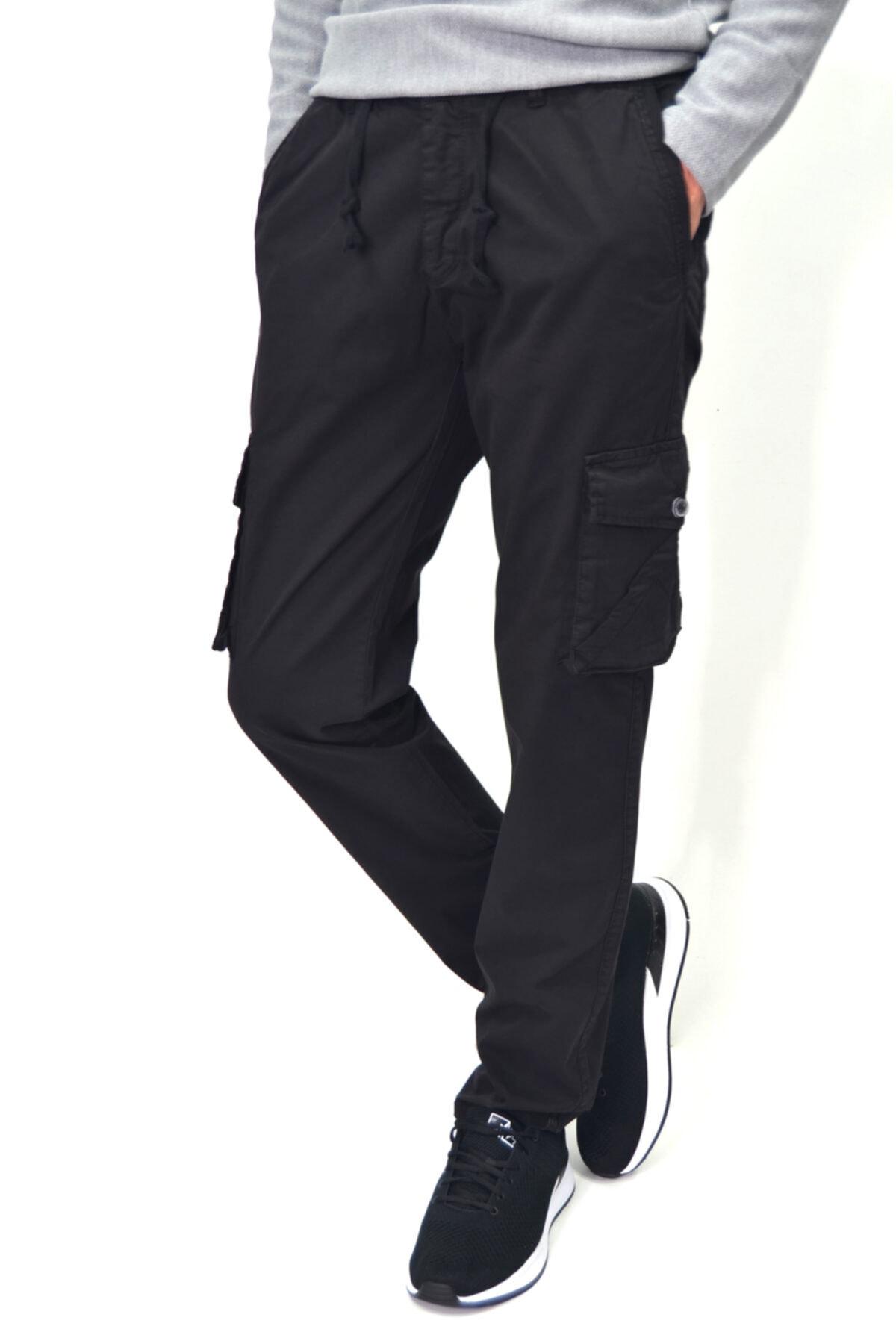 ds danlıspor Erkek Beli Lastikli Likralı Kargo Cep Pantolon 20109 1