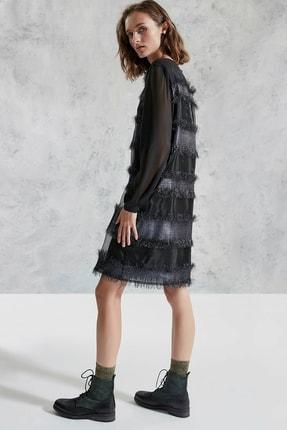 Yargıcı Kadın Siyah Sırtı Detaylı Elbise 0KKEL7038X