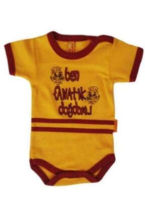 Ozge Mini Pop Unisex Bebek Sarı Bebek  Fanatik Doğdum Body