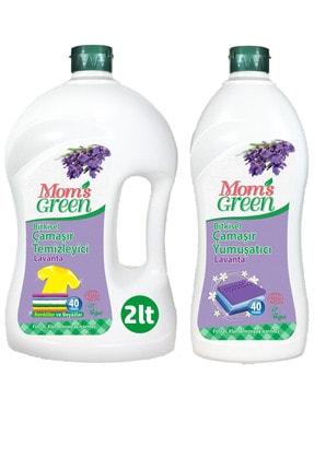 Mom's Green 2'li Set Bitkisel Çamaşır Temizleyici 2 Lt Lavanta - Bitkisel Yumuşatıcı 1 Lt Lavanta