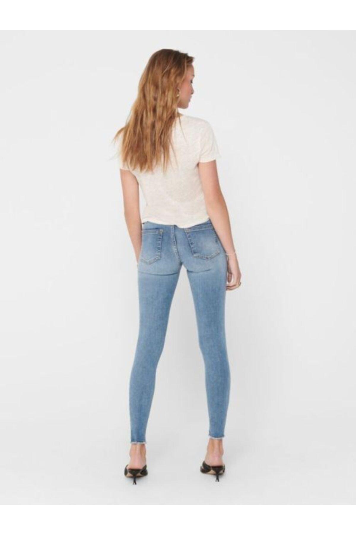 Only Kadın Mavi Jean Pantolon 2