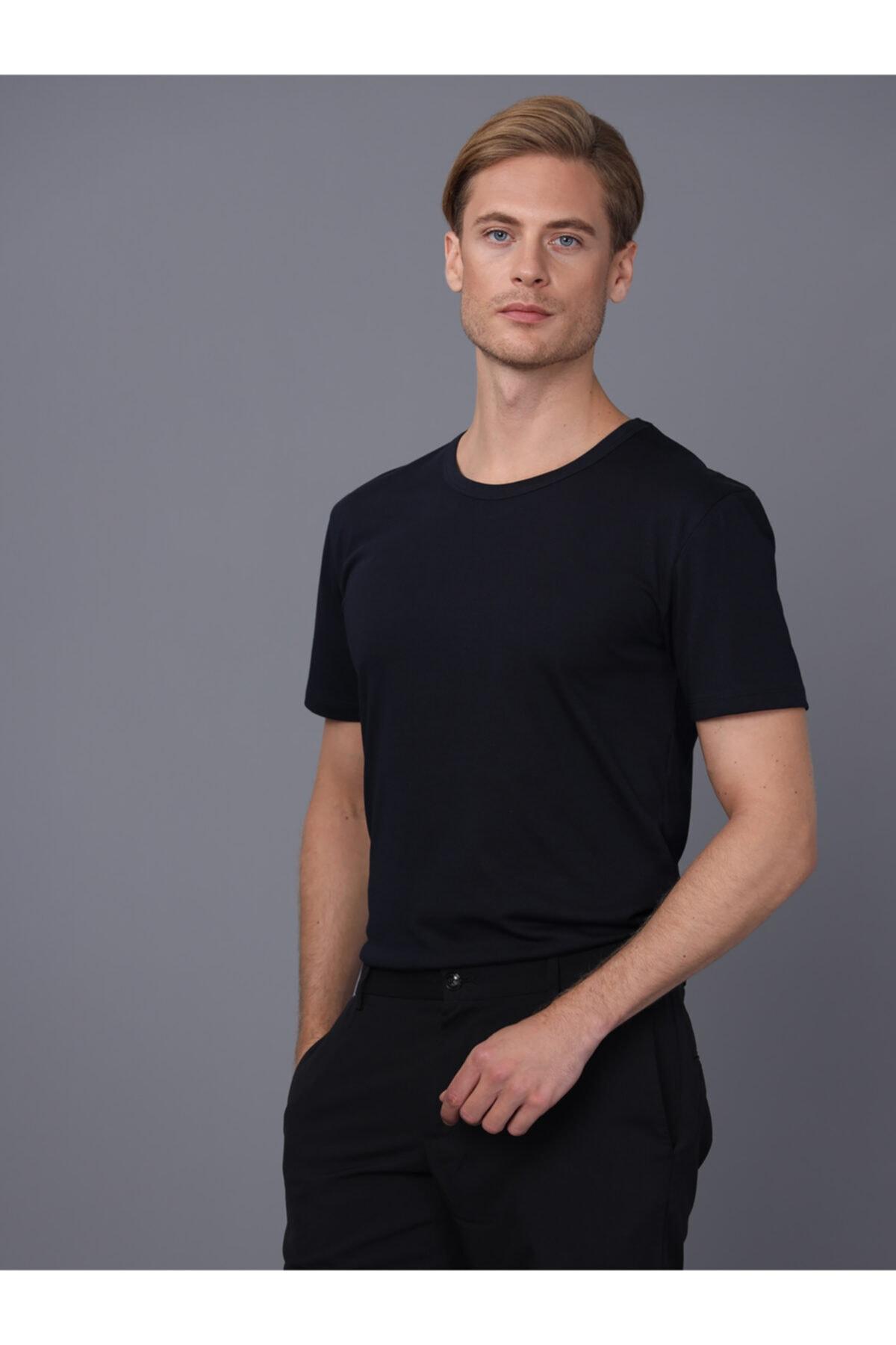 Basics&More Erkek Bisiklet Yaka T-shirt 2