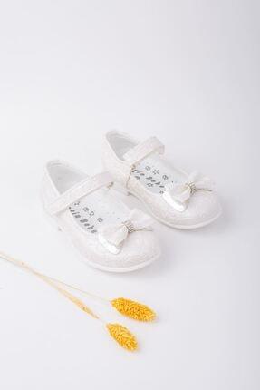 epaavm Kız Bebek Beyaz Fiyonklu Ayakkabı