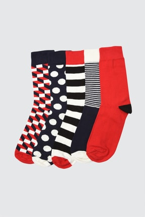 TRENDYOL MAN Çok Renkli Erkek 5'li Soket Çorap TMNAW21CO0055