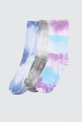 TRENDYOL MAN Çok Renkli Erkek 3'lü Soket Çorap TMNAW21CO0068