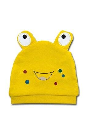 Albimini Sarı Kurbağali Lüx Bebek Şapka K3422