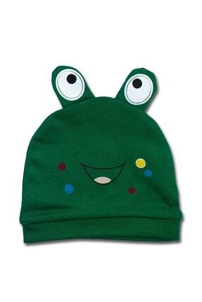Albimini Yeşil Kurbağali Lüx Bebek Şapka K3423