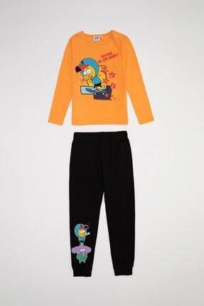 DeFacto Kız Çocuk Turuncu Kral Şakir Lisanslı Pijama Takımı