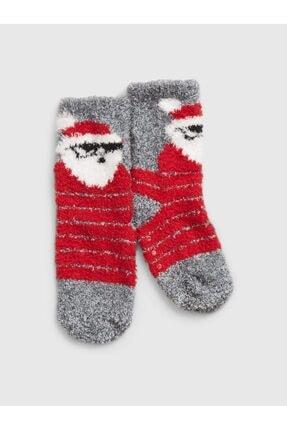 GAP Baby Unisex Çocuk Kırmızı Desenli Çorap