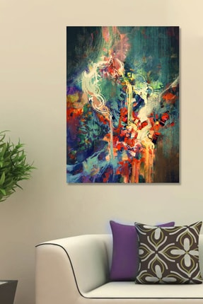 Hediyeler Kapında Renklerin Cümbüşü Kanvas Duvar Tablo 70x100 cm