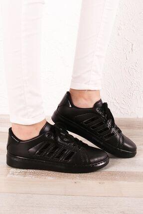 Zafoni Kadın Siyah Günlük Spor Ayakkabı