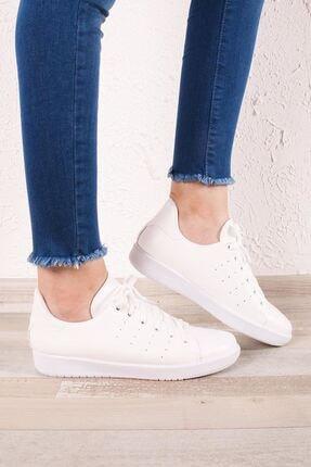 Zafoni Kadın Beyaz Günlük Spor Ayakkabı