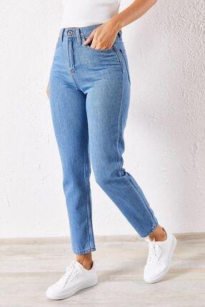 Zafoni Kadın Mavi Boyfriend Kot Pantolon