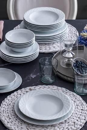 Güral Porselen Beyaz 24 Parça Yemek Takımı Aly24y400