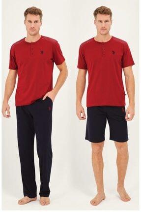 U.S. Polo Assn. Us Polo Bordo Pijama Takım + Sort 12011