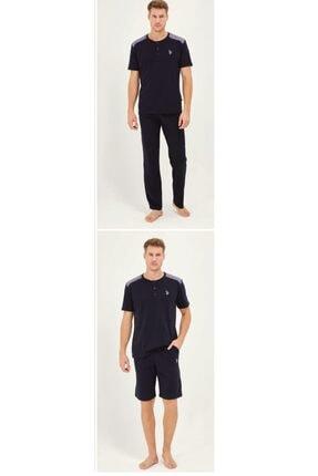 U.S. Polo Assn. Us Polo Lacivert Pijama Takım + Sort 12011