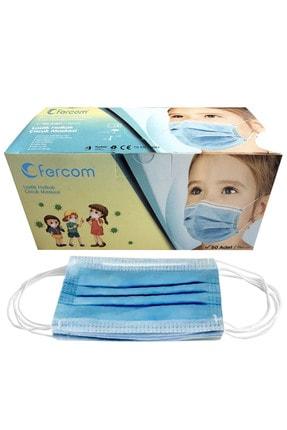 GprotectionMask Child Fercom Çocuk Maskesi Mavi Kutu 50 Adet