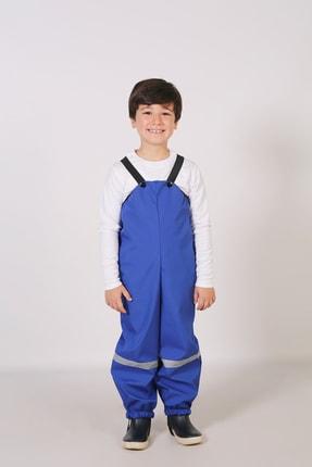 Belkızın Atölyesi Çocuk Mavi Yağmur Pantolonu / Su Geçirmez