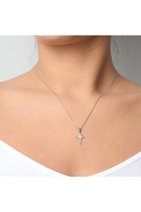 Anka Gümüş Kadın Gümüş Minik Kutup Yıldızı Kolye 925 Ayar