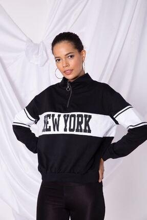 Zafoni Kadın Siyah Sweatshirt