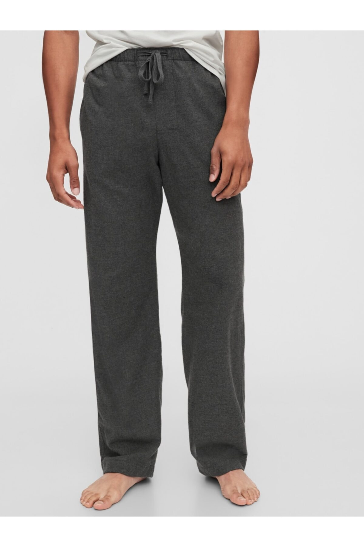 GAP Erkek Gri Saf Pamuklu Pijama Altı 1