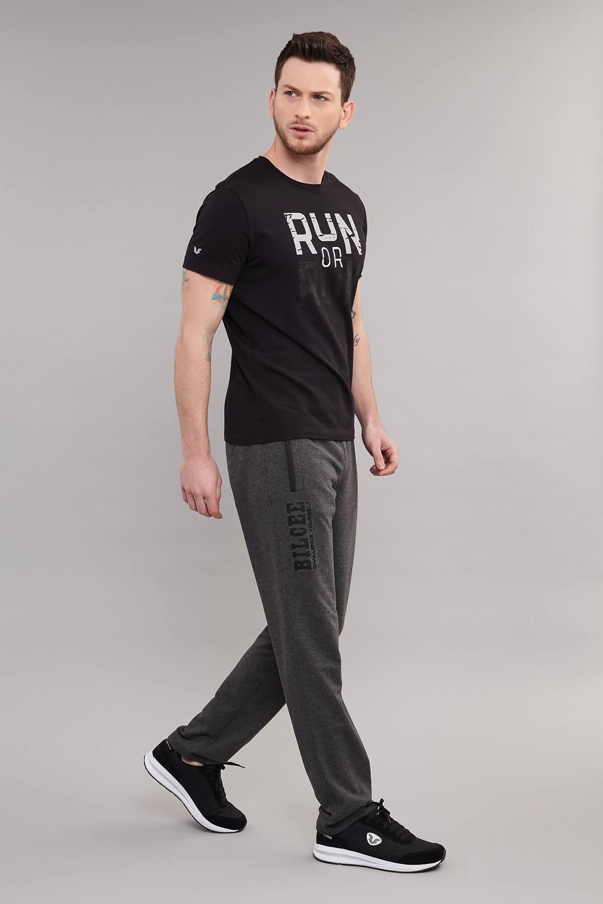 bilcee Siyah Pamuklu Erkek T-Shirt ES-1362 2