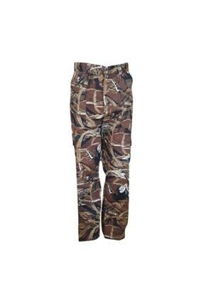 Asil Erkek Kahverengi Sazlık Desen Avcı Pantolonu