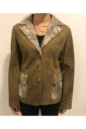 ASUS Kadın Bej Macy Antik Ceket
