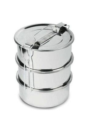 Doğuş Mutfak Sefer Tası 3 Lü Paslanmaz Çelik Tek Kişilik 12x6 Cm
