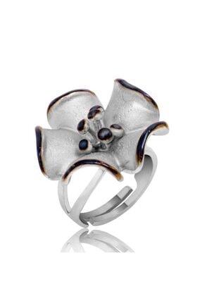 Gumush Kadın Gümüş Çiçek Yüzük
