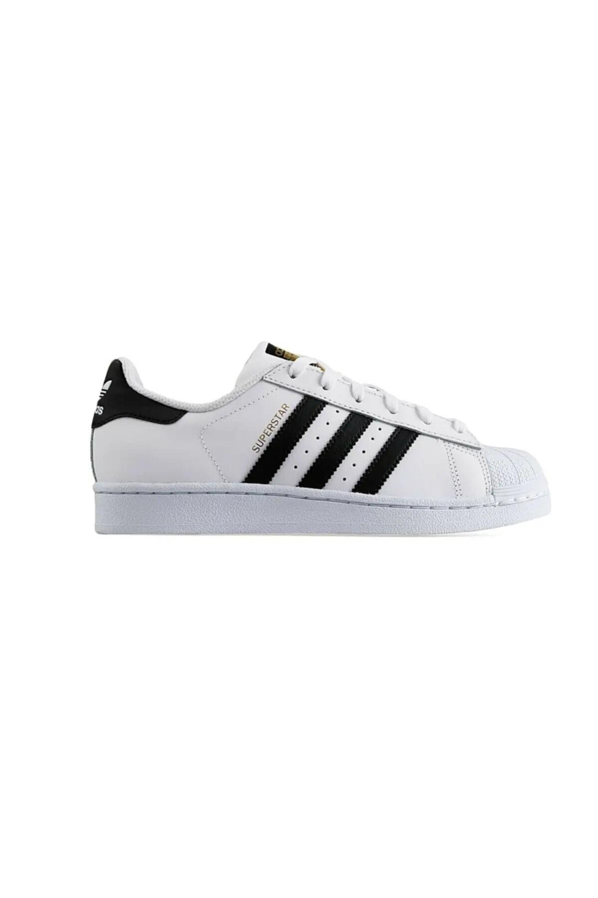 adidas Erkek Beyaz Süperstar Spor Ayakkabı 1