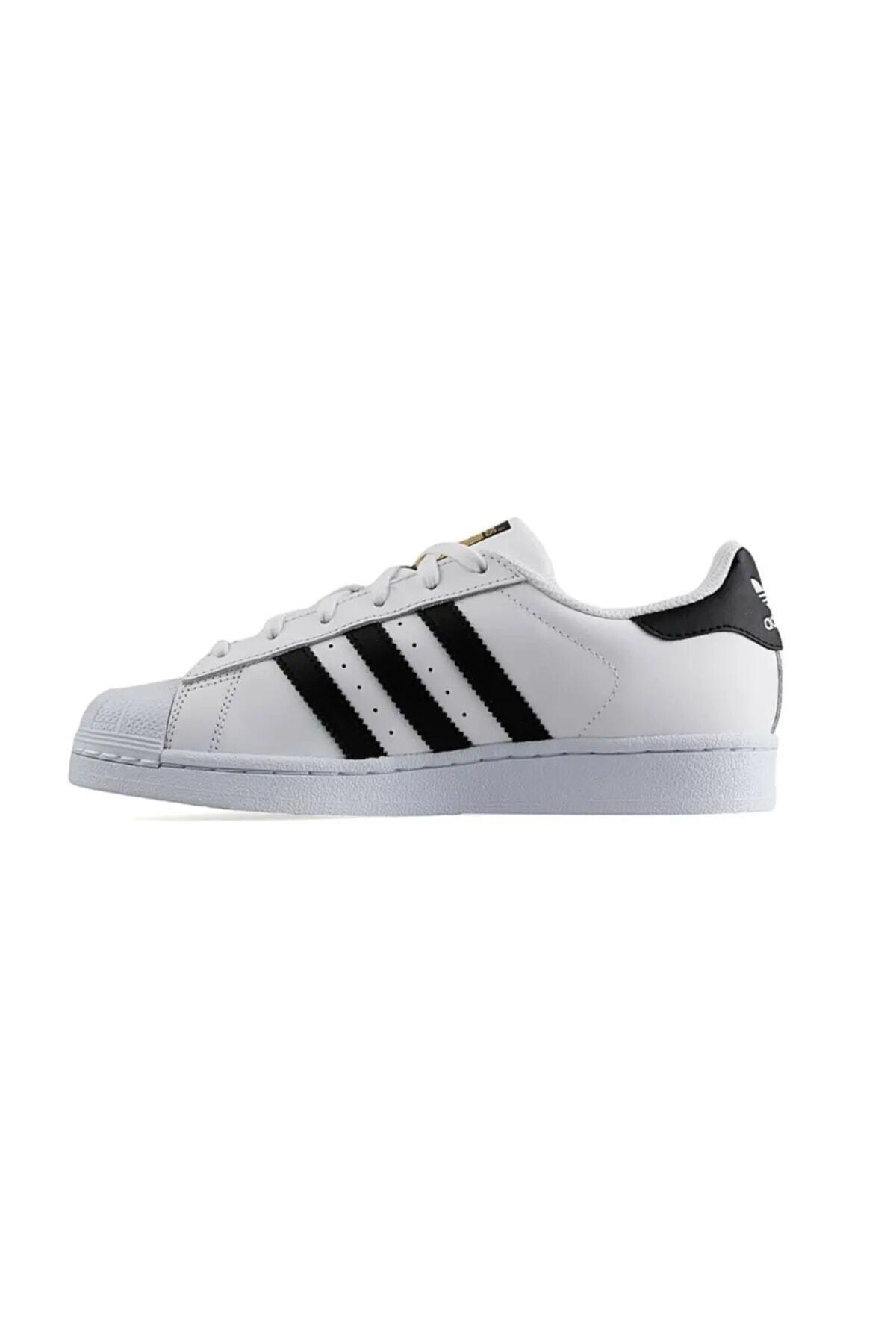 adidas Erkek Beyaz Süperstar Spor Ayakkabı 2