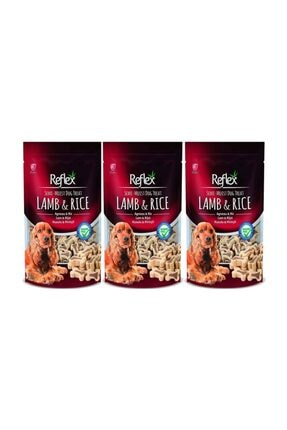 Reflex Kuzu Etli Ve Pirinçli Küçük Irk Köpek Ödülü 150 Gr 3'lü Set