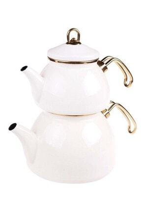 Taşev Şehzade - Çaydanlık Takımı Krem
