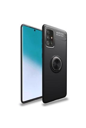 AksesuarLab Samsung Galaxy A51 Kılıf - Manyetik Yüzüklü Kılıf - Siyah