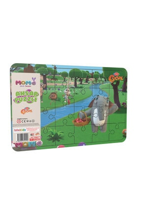 istakids Akıllı Tavşan Momo Ahşap Puzzle Model 4