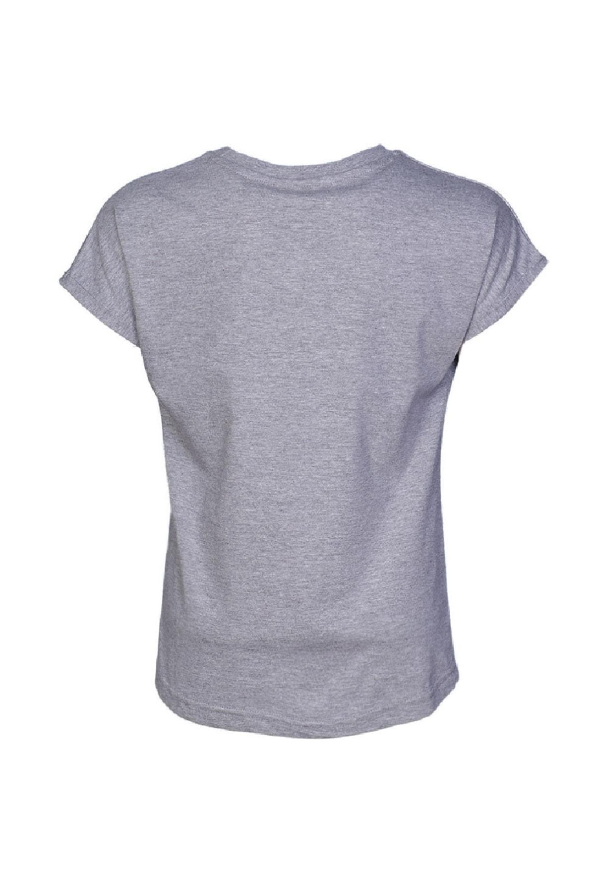 HUMMEL KIDS HMLCARLINA   T-SHIRT S/S GRI MELANJ Kız Çocuk T-Shirt 100581136 2