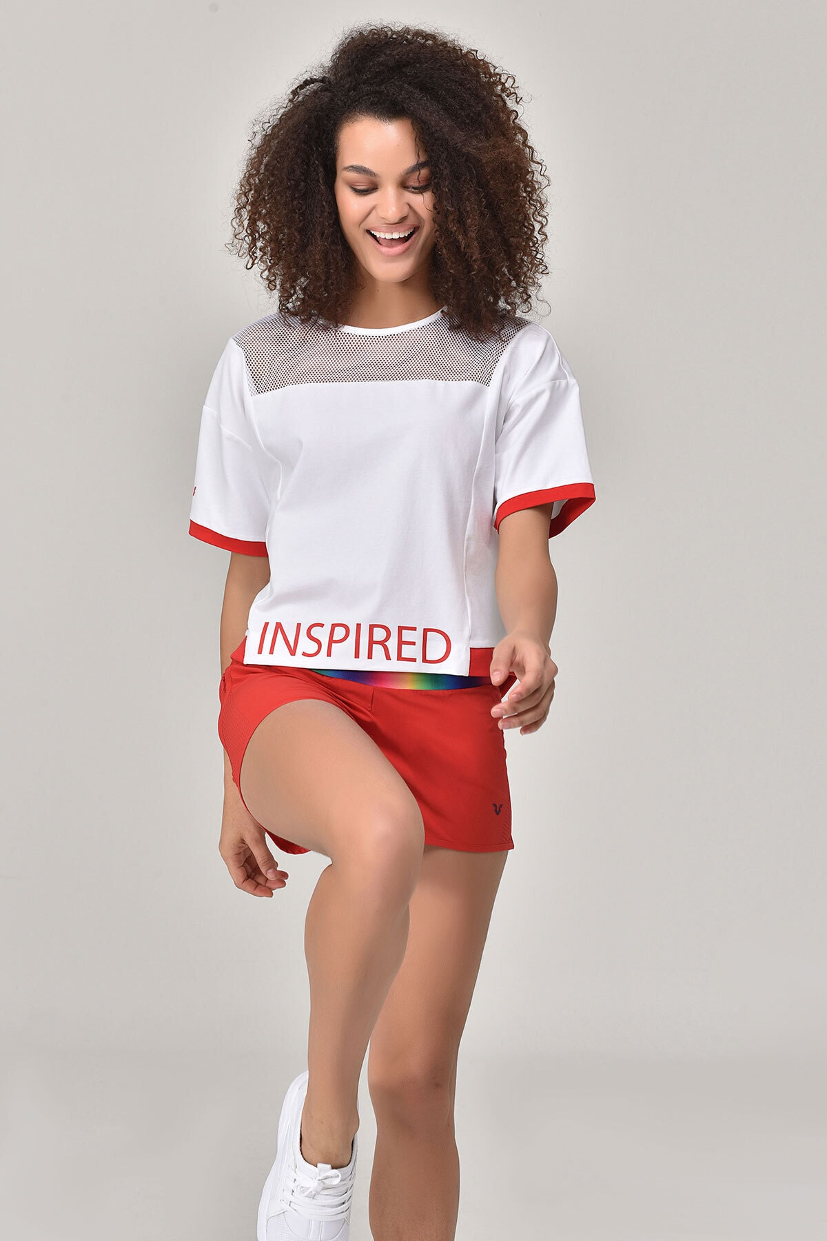 bilcee Beyaz Kadın T-Shirt GS-8080 2